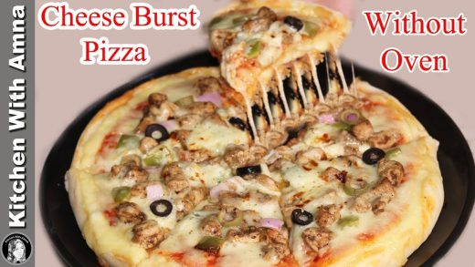 Cheese Burst Pizza Recipe Without Oven | Cheese Burst Pizza | Kitchen With Amna