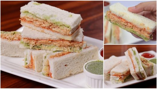 Chicken Chutney Sandwiches 5 Mins Recipe by (YES I CAN COOK)