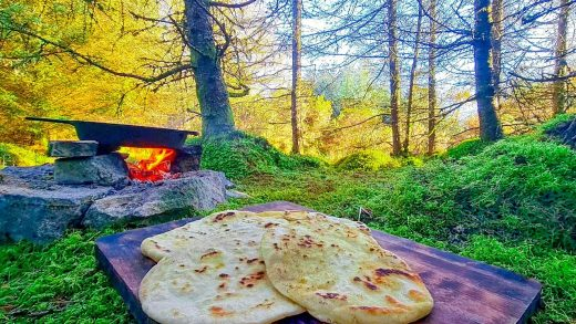 Chicken Gyros cooked in a beautiful Forest🐔! The PERFECT place for a snack🌯 ASMR cooking
