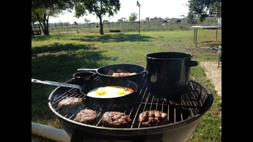 Cooking Breakfast on the Grill