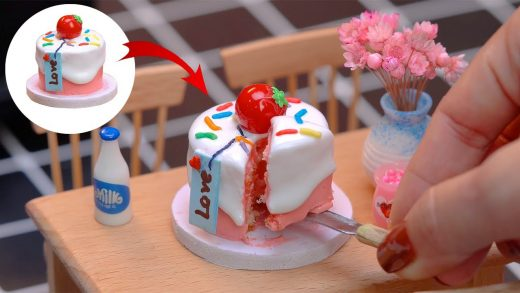 Cooking In Miniature Kitchen |  Miniature Real Cooking | Tiny Cake #21