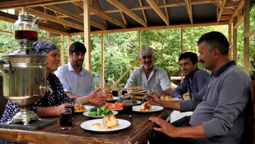 Cooking Lunch for Wooden House Builders, Outdoor Cooking
