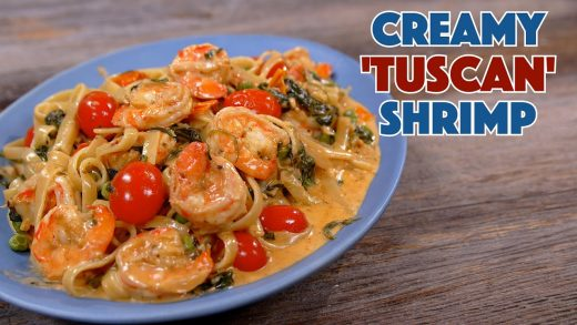 Creamy Tuscan Shrimp Pasta Recipe - Glen And Friends Cooking