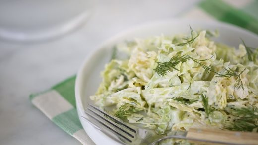 Cucumber and Dilled Cabbage Slaw- Everyday Food with Sarah Carey