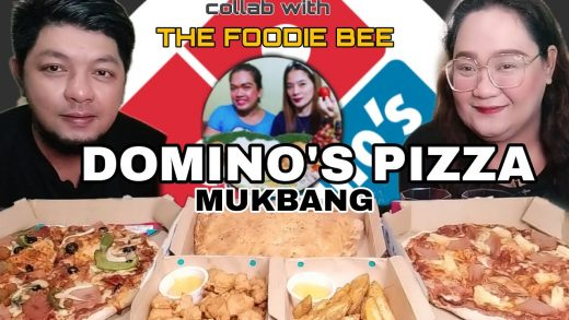 Dominos Pizza Mukbang collab with @The Foodie Bee | Happyboy's Foodtube
