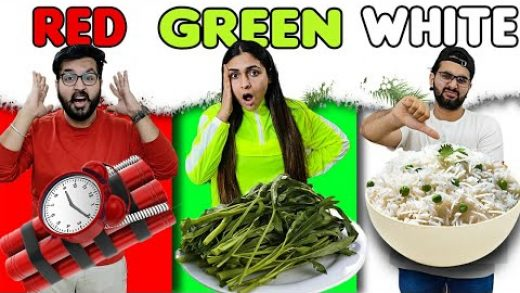 Eating Only ONE Color of Food for 24 Hours! (Food Challenge Gone Wrong) 😱
