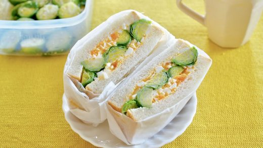 Egg Salad Sandwiches with Brussels Sprouts Chunks (Recipe) | OCHIKERON | Create Eat Happy :)