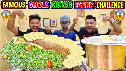 FAMOUS CHOLE KULCHE EATING CHALLENGE | DELHI STREET FOOD EATING COMPETITION | FOOD CHALLENGE(Ep-407)