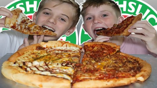 FRESH SLICE PIZZA - MEAT LOVERS, CHEESY PESTO & BBQ CHICKEN PIZZA - WHO'S MORE LIKELY TO MUKBANG!