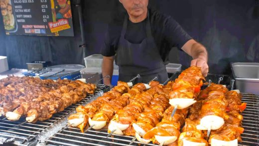 Food from Peru. Parrilla Grill. Skewers, Grill and Wraps. London Street Food