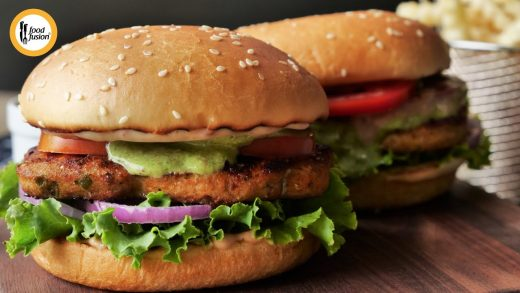 Grilled Chicken Chapli Burger Recipe By Food Fusion