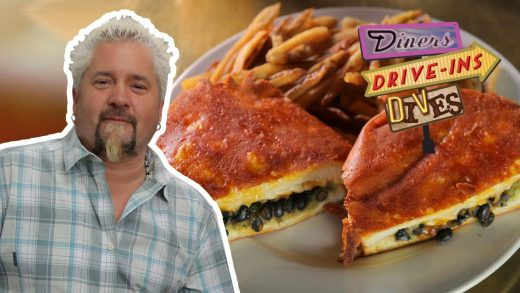 Guy Fieri Eats INSIDE-OUT Grilled Cheese   Diners, Drive-ins and Dives with Guy Fieri   Food Network