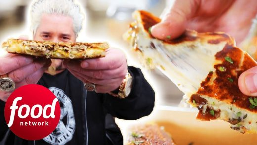 How Does This Food Truck Make Gourmet Grilled Cheese Sandwiches? | Diners, Drive-Ins & Dives