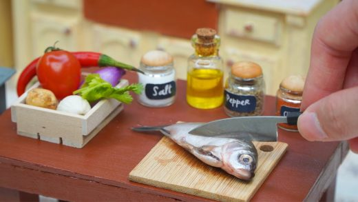 How To Make Thai Grilled Fish In Miniature Kitchen |DIY Mini Food In Real Life