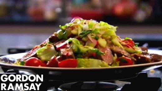 How to Cook Steak and Spicy Beef Salad Recipe | Gordon Ramsay