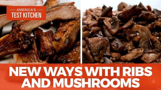 How to Make Tuscan Grilled Pork Ribs and Sautéed Mushrooms with Red Wine and Rosemary