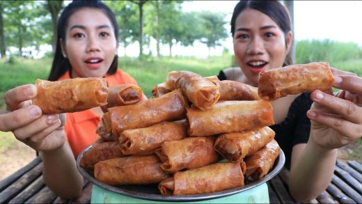 How to cook spring Rolls crispy recipe with chili sauce - Cooking and eating