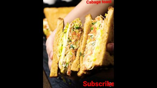 How to make cabbage  toast sandwiche recipe  #healthy #food #love