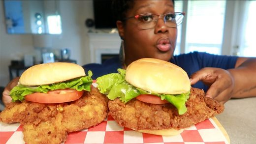 INDIANA PORK TENDERLOIN SANDWICHES COOKING AND EATING