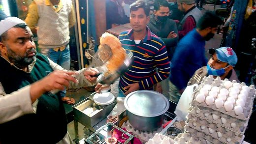 India's Fastest Omelet Making   Cheese Bread Omelette   Indian Street Food