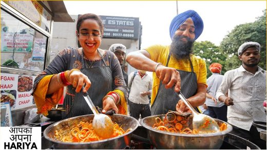 Inspirational Story of Mr & Mrs Singh | NEWLY MARRIED COUPLE Selling Indian Street Food ❤️🔥