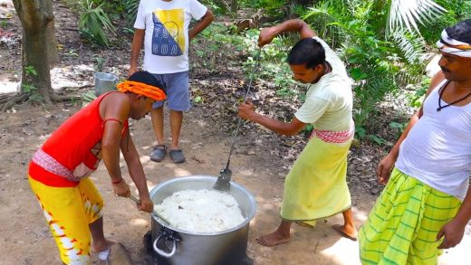 JEERA RICE & FISH CURRY | Cooking jeera rice and fish for tribal village people | villfood Kitchen
