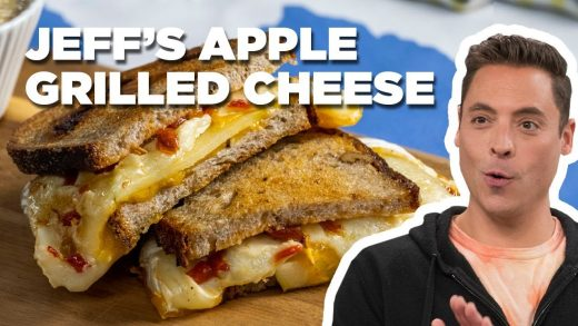 Jeff Mauro Makes an Apple, Cheddar and Brie Grilled Cheese | The Kitchen | Food Network
