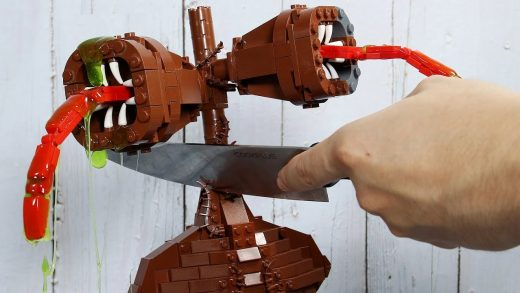 LEGO SIREN HEAD & GODZILLA In Real Life - Funny Food Animation | Stop Motion Cooking & ASMR 4k