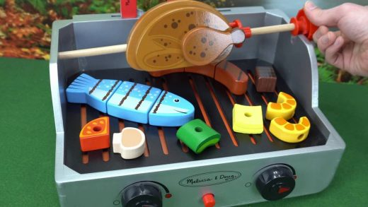 Learn Foods Names with Toy Grill for Kids!