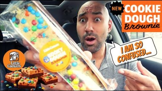 Little Caesars Cookie Dough Brownie Review - Is it a Good Dessert?