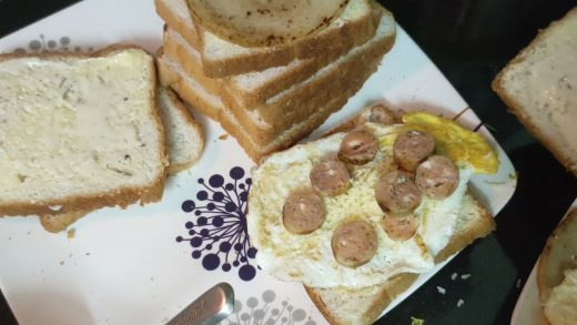MY VILLAGE COOKING EASY TO COOK SALAMI AND SAUSAGE EGG CHEESE SANDWICH WITH REALXING ZEN MUSIC