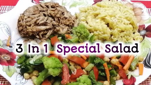 My Favorite Protein Salad Recipe | 3 in 1 Special Salad Recipe | Salad by Cooking on