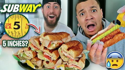 Ordering 10 DIFFERENT SUBWAY Sandwiches From SUBWAY & COMPARING Them (CRAZY FAST FOOD FINDS)