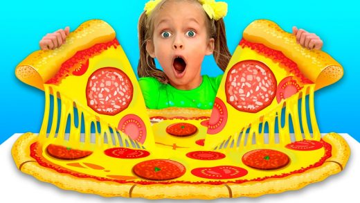 PIZZA TIME - EDUCATIONAL KIDS SONGS || MAYA AND MARY