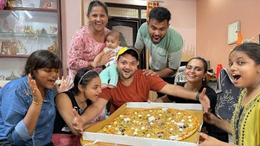 Pizza Eating Challenge | Biggest Pizza Challenge with Family