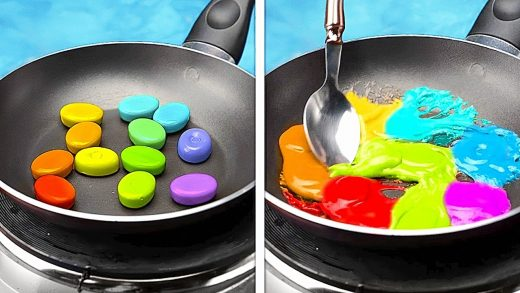 Rainbow DESSERT recipes and Cooking Hacks #Shorts