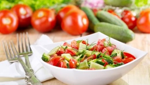Russian Style Cooking: Salad Tomato and Cucumber Recipe