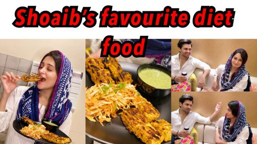 SHOAIB'S FAVOURITE DIET FOOD| PANEER AND CHICKEN GRILL KEBABS WITH SALAD | MINT CURD CHUTNEY| RECIPE