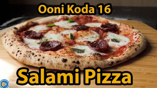 Salami Pizza Real-Time Cook in Ooni Koda 16 Pizza Oven.