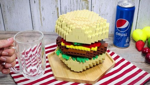 Satisfying LEGO BURGER In Real Life 🍔 - Stop Motion Cooking ASMR Funny Video