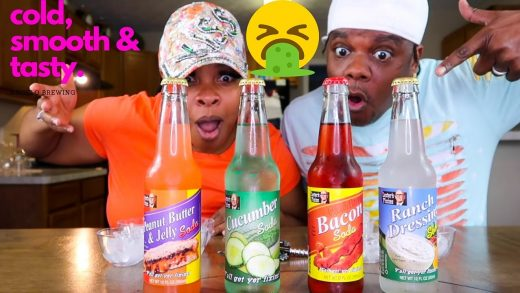 | TASTE AND REVIEW | WEIRD DRINKS YOU EAT | I THREW UP!! | BACON | CUCUMBER | RANCH | PB&J | SODA