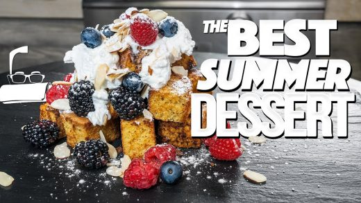 THE BEST DESSERT YOU'RE GOING TO MAKE ALL SUMMER (IT'S GRILLED POUNDCAKE!)   SAM THE COOKING GUY