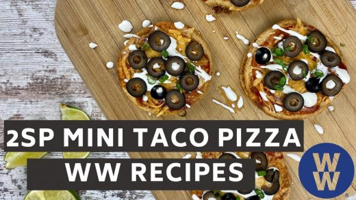 Taco Bell Inspired Mini Taco Pizzas | WW Recipes Made Easy + What I Eat to Lose Weight