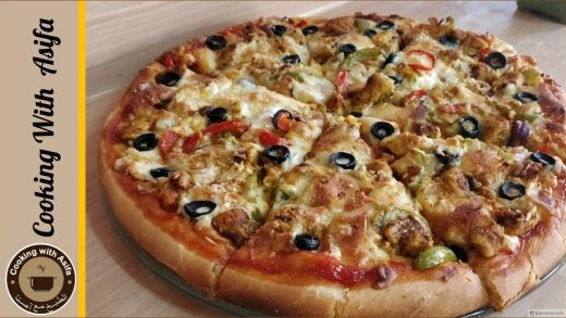 Tasty chicken fajita pizza recipe by Cooking with Asifa