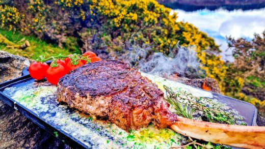 🥩The Most Delicious Tomahawk STEAK Cooked in Nature!😲 NO music! Only Nature and Food