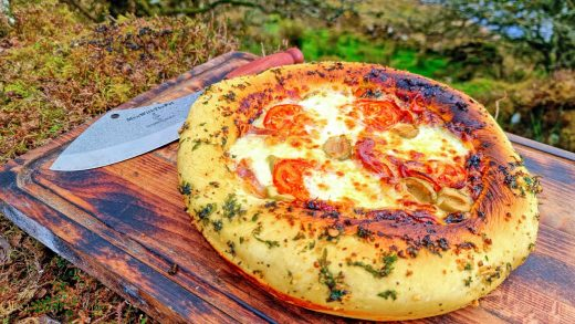 🍕Thick Crispy Cheese Pizza crust with a beautiful view of the Lake🤩. ASMR cooking. NO talk
