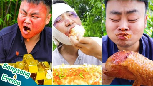 TikTok Spicy Foods Chinese Cooking Mukbang | Lamb chops Grilled fish | Funny Video