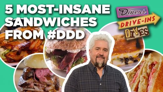 Top 5 Craziest Sandwiches Guy Fieri Has Eaten on Diners, Drive-Ins and Dives | Food Network