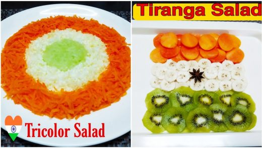 Tricolor Salad   Tricolour dishes for independence day   Tiranga Salad    Indian flag food ideas
