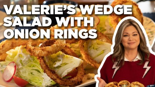 Valerie Bertinelli's Wedge Salad with Crispy Onion Rings | Valerie's Home Cooking | Food Network